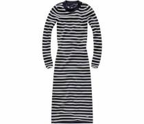 Jerseykleid 'Exly' nachtblau / weiß