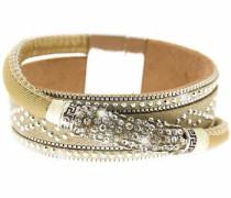 Armband 'Marisol' ecru / silber