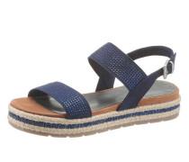 Sandalette mit Glitzersteinen navy