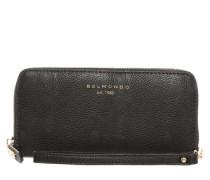 Portemonnaie mit Smartphone-Fach schwarz