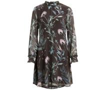 Gemustertes Kleid mit langen Ärmeln