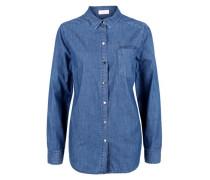 Jeanshemd mit Druckknöpfen blue denim