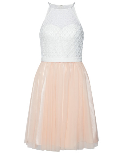 Kleid rosa / weiß