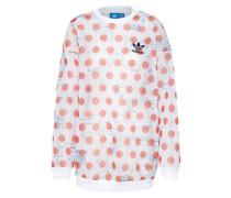 Sweatshirt 'osaka' dunkelorange / weiß