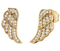 Paar Ohrstecker 'Little Magic Flügel Ere-Lilwing-Zi-St-G' gold