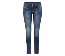 Skinny Jeans mit Used Effekten 'Gila' blue denim