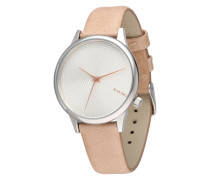 Armbanduhr 'Estelle deco' beige / silber