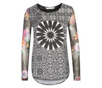 Langärmeliges Shirt 'Ainara' mischfarben / schwarz