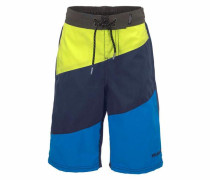 Boardshorts 'conch JR Boys Shorts' blau / dunkelblau / gelb