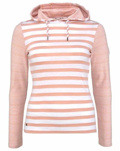 Kapuzenshirt weiß / rosa