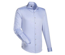 City-Hemd ' Blue Label ' blau