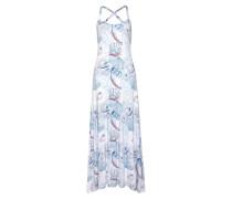 Kleid blau / hellblau / pink / weiß