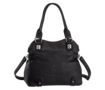 Handtasche mit Umhängeriemen schwarz