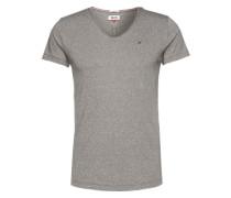 T-Shirt in Melange-Optik dunkelgrau