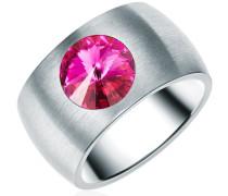 Ring Edelstahl Made With Swarovski ELEMENTSviolett silber
