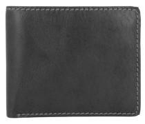 'Toscana' Geldbörse III Leder 11 cm schwarz