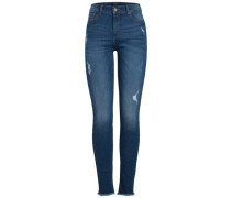 Slim Fit Jeans 'Ankle' blau