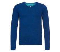 Pullover 'basic v-neck sweater' blau