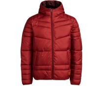 Klassische Wattierte Jacke rot