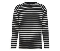 Langarmshirt 'Stripe Longsleeve' schwarz / offwhite