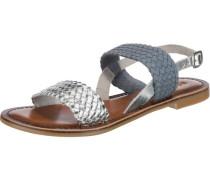 Sandaletten taubenblau / silber