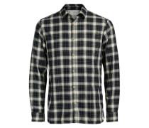 Klassisches Karo-Freizeithemd schwarz