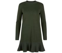 A-förmiges Kleid mit langen Ärmeln grün