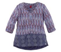 Tunika mit zwei Mustern bedruckt für Mädchen blau