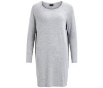 Kleid Einfache Übergröße grau