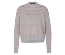 Pullover mit Stehkragen 'Fiola' graumeliert / altrosa