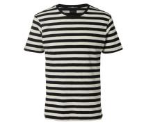 Gestreiftes T-Shirt schwarz / weiß