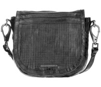 Cut it Vintage Dimension Handtasche Leder 35 cm schwarz