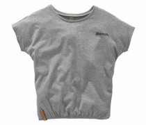 T-Shirt mit Fledermausärmeln graumeliert