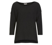 Rundhals-Shirt mit Struktur schwarz