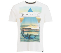 T-Shirt 'framed' weiß