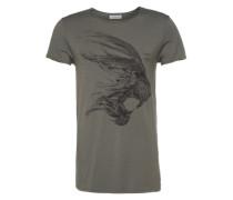 T-Shirt Steel Cat grün