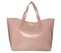 Handtasche 'Croco' rosa