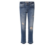 Slim Jeans mit Destroyed-Effekten blau