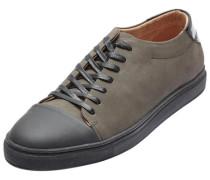 Leder-Sneaker grau
