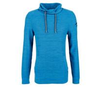 Turtleneck-Pullover mit Tunnelzug himmelblau