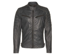 Lederjacke 'Coulter' anthrazit