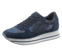 Plateausneaker blau / marine / schwarz