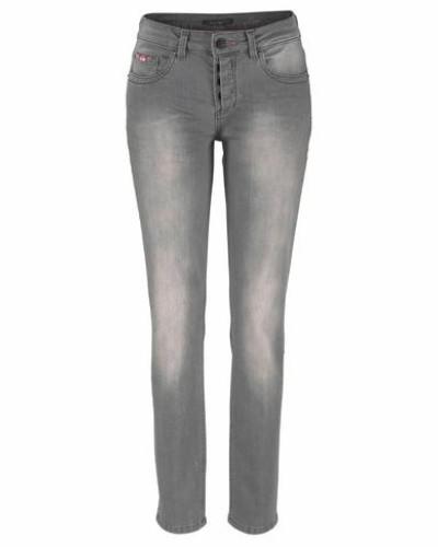 Stretch-Jeans 'Monroe' grau