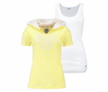 Print-Shirt (Set 2 tlg. mit Top) limone