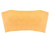 Bandeau-Bikini-Top gelb
