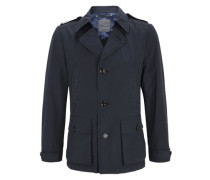 Jacke im Trenchcoat-Stil blau
