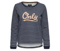 Bedrucktes Sweatshirt navy / weiß