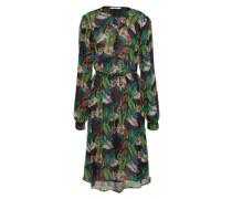 Kleid in Midilänge mischfarben / schwarz