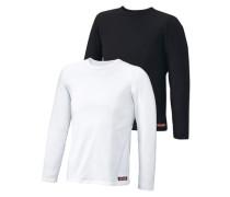 Langarmshirt (2 Stck.) schwarz / weiß