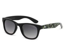 Trendige Sonnenbrille khaki / schwarz